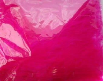 Sachet 20 feathers pink FUCHSIA scrapbooking ca rterie new wedding decoration