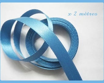 2 metres satin ribbon double sided 10 mm