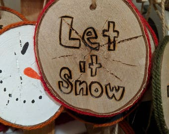 Christmas Tree Ornament (let it snow)