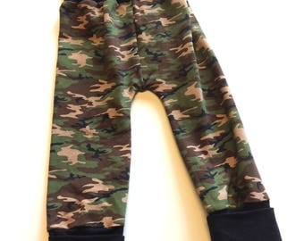 Camo Maxaloones  (no bum circle)- 1 to 3 years,  ~ Ready to Ship, cloth diaper pants, baby, toddler clothes