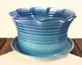Large Blue terracotta flo...