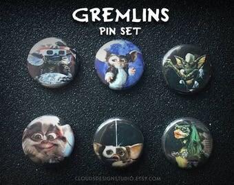 Gremlins 6-piece Pinback Button Set