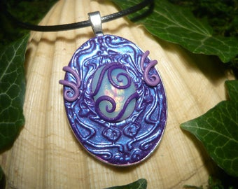 Ultraviolet Opal Amulet - fantastic handmade Pendant - OOAK