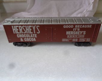 Hersheys Chocolate boxcar from the Hersheys store,Lionel 027 or similar