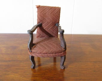 Antique German Dollhouse Furniture, dollhouse miniature chair, vintage doll house furniture from Germany