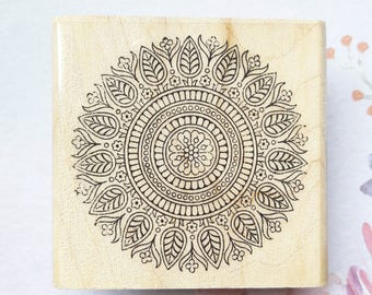 Dainty Medallion Wood Mounted Rubber Stamp Paper Craft & Stamping Supplies