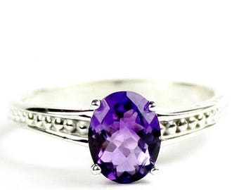 On Sale, 20% Off, Amethyst, 925 Sterling Silver Ladies Ring, SR371