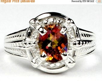 On Sale, 30% Off, Twilight Fire Topaz, Sterling Silver Ring, SR284