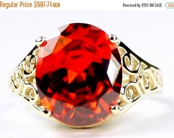 On Sale, 30% Off, Padparadsha CZ, 14KY Gold Ring, R057