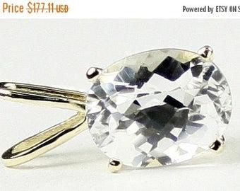 On Sale, 30% Off, Silver Topaz, 14KY Gold Pendant, P002