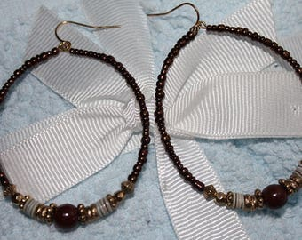 Boho Beaded Earrings - One of Kind
