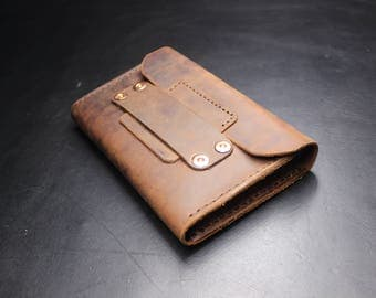 Leather Wallet - Hand Made Wallet - men wallet - Fold Wallet