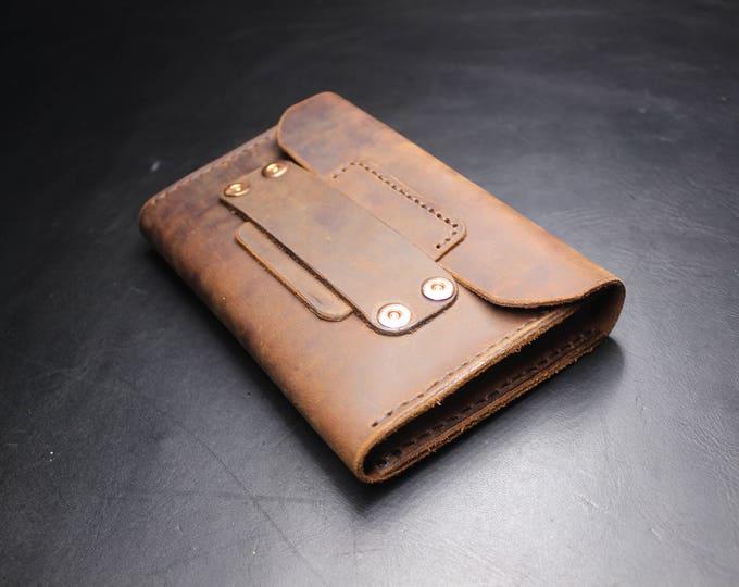 Leather Wallet - Hand Made Wallet - men wallet - Fold Wallet