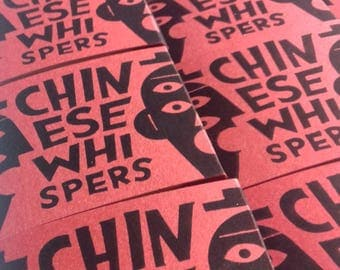 CHINESE WHISPERS #minibook #self-publishing #accordion book