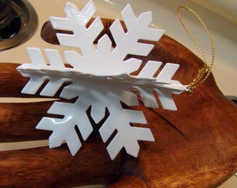 Snowflake ornament, vintage snowflake Christmas ornament, snowflake decor