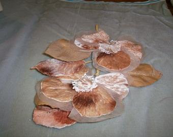 Older ombre antique velvet flower stunning