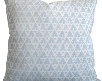 Volpi In Soft Windsor Blue-High End Designer Decorative Pillow Cover-Quadrille-Sofa Pillow-Accent Pillow-Throw Pillow-Single Sided