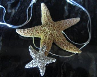 Glimmering Sugar Star Fish Pendant