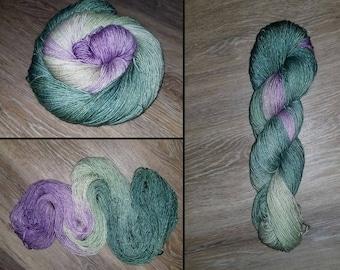 Hand dyed Sparkle Sock Yarn - 4oz fingering weight 409 yards- Superwash Merino Stellina Lurex-  knitting crocheting yarn - Rapunzels Tower