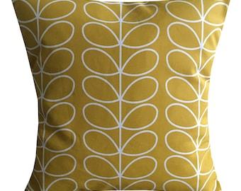 "Designer handmade mustard stem floral retro scandinavian 16 - 24"" cushion cover"