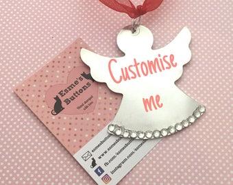 Christmas Angel,  personalised Angel, Christmas  tree decoration, Angel decoration, Christmas ornament, uk seller,