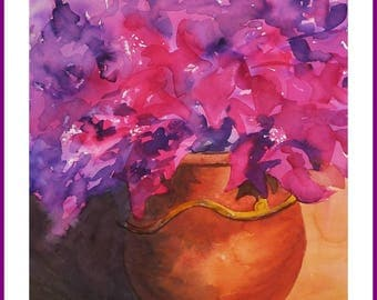 WATERCOLOR - bougainvillea