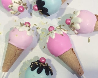 24 Ice cream cone Cake Pops private listing addtional shipping