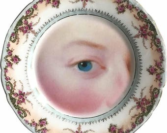 Lover's Eye  - Rococó - Vintage Porcelain plate - More than 120 Years Antique- #0501