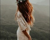 Boho wedding dress, wedding dress, lace wedding dress, vintage wedding dress, casual wedding dress, hippie wedding dress, bohemian wedding