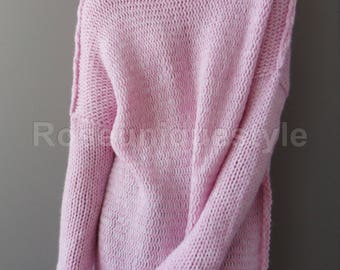 New color. Handmade Oversized Slouchy sweater. Alpaca  chunky knit sweater.