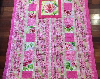 Pretty in Pink Quilted Blanket