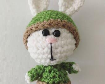 Crochet baby kiwi bunny (PDF pattern)