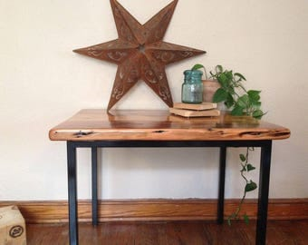 Reclaimed wood & steel Accent Table
