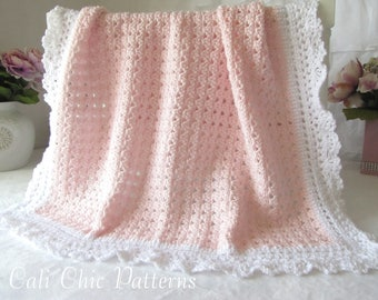 Crochet PATTERN 41 - Angel Series - Crochet Baby Blanket Pattern 41 - Instant Download PDF