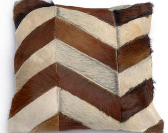 Natural Cowhide Luxurious Patchwork Hairon Cushion/pillow Cover (15''x 15'')a236