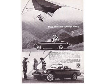 Vintage 1976 magazine poster  advertisement for MGB - 23