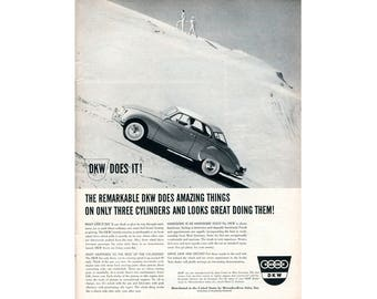 Vintage poster advertisement of a 1960 DKW - 39