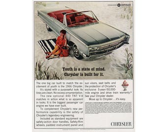 Vintage poster advertisement of a 1966 Chrysler - 50