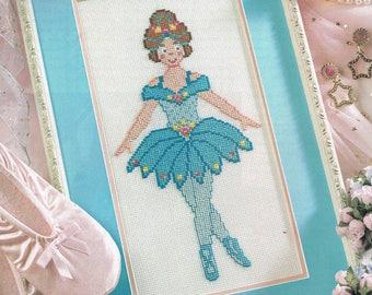 CROSS STITCH PATTERN -  Blue Ballerina Cross Stitch Pattern - Ballet Cross Stitch