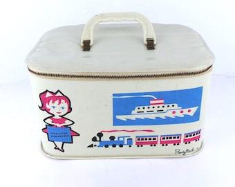 Vintage Little Miss Traveler by Ponytail Travel Case