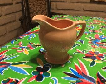 Vintage California pottery Santa Anita Ware peach creamer