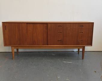 Vintage Danish Modern Teak Credenza / Console - Free NYC Delivery!