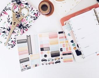 Pocket Size Sticker Book Insert for Traveler's Notebook, Planner Stickerbook, Custom Stickers for Planner, TN Sticker Insert, Planning kit
