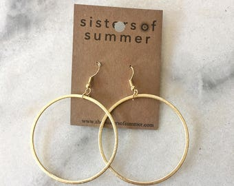 Large Hoop Drop Earrings