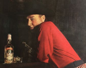 1962 Smirnoff Vodka ad featuring George Gobel, Never gamble with a stranger at the bar.