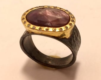 Antique style  chocolate diamond ring