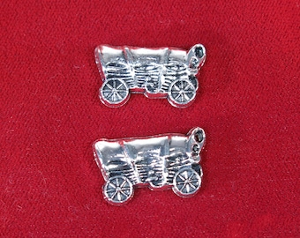"10pc ""chuck wagon"" charms in antique silver style (BC1270)"