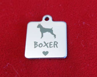 """1pc """"Boxer"""" charms in stainless steel (BC1361)"""