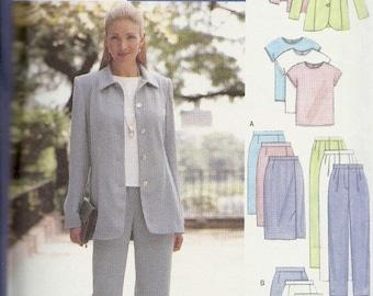 25% OFF Butterick 5943 Misses/Petite Jacket, Top, Skirt and Pants   Size 14,16,18  Uncut