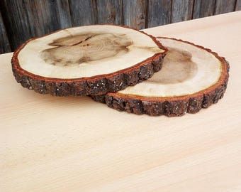 Wooden base TREATED slice for wooden centerpiece for rustic wedding
